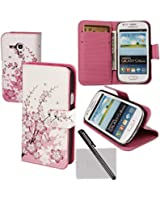 xhorizon® Watercolor Magnetic Folio Case Cover Flip Simple Card Wallet for Various Cellphone Samsung LG HTC Huawei Sony Motorola