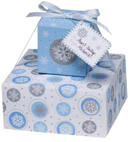 Creative Converting Snowflake Printed Stackable Cookie Boxes, 2 Per Package - 1