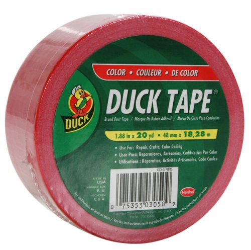 Brand 392874 Color Duct Tape, Red, 1.88-Inch by 20 Yards,