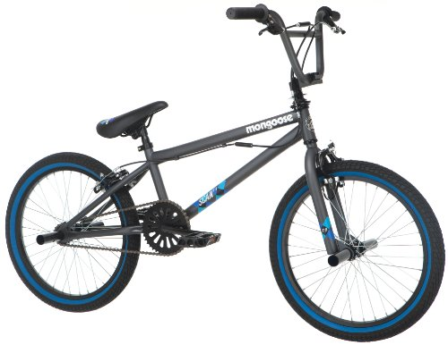 Mongoose Boy's Scan R10 Freestyle Bike, 20-Inch, Grey