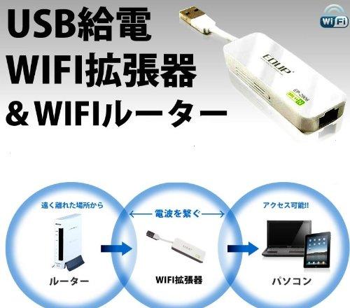 USB WIFI拡張器WIFIルーター 無線LANネットワーク広がります 届きにくいエリア中継可能なスグレモノ VM-UWR100
