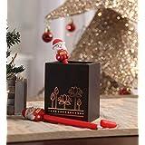 Itiha Christmas Red Santa Pen Set Of 2 (16 Cm Height)