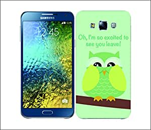 Galaxy Printed 2355 Mean Owl Lime Hard Cover for Samsung CORE 2