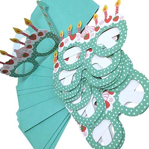 パーティ 招待状 10枚 セット 封筒付き 立体 メガネ 可愛い かわいい 個性的 おもしろ 面白 誕生日 バースデー パーティグッズ 二次会 グリーン 緑