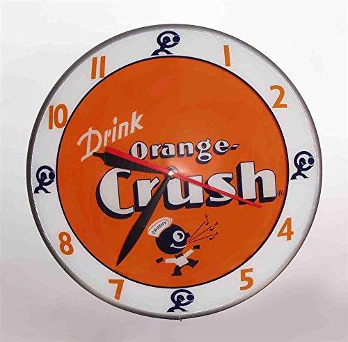 Double Bubble Orange Crush Glass Clock