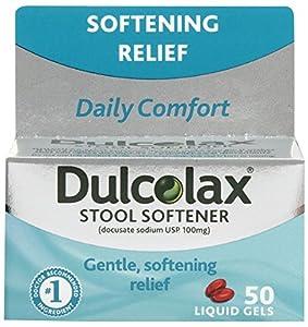 Amazon Com Dulcolax Stool Softener Liquid Gels 50 Ct