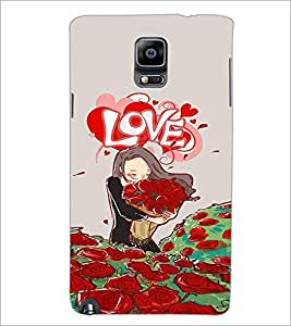 PrintDhaba Love Image D-3931 Back Case Cover for SAMSUNG GALAXY NOTE 3 (Multi-Coloured)