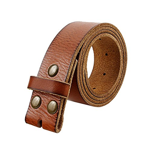 Senmi Men's Genuine Leather Belt Classic Full-Grain Belt 36-38in Size Brown (Belt Strap compare prices)