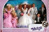Barbie Wedding Party MIDGE Gift Set w 6 Dolls: Barbie, Ken, Midge, Allen, Kelly & Todd (1990)