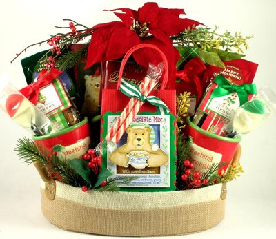 Peace on earth christmas gift basket for the family for Christmas gift basket ideas for families