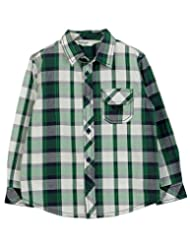 White/Green Check Shirt Green Check - B00NBWQ364