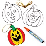 Pumpkin Suncatcher Decorations (Pack of 6)