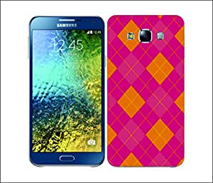 Galaxy Printed 1808 Argyle Pink and Yellow Hard Cover for Samsung E7