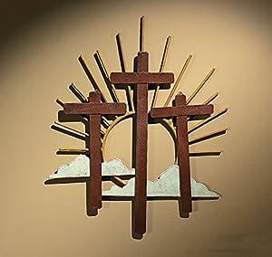 Amazon Com Cutout Metal Crosses Religious Amp Wall Decor