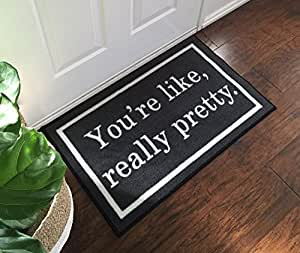 You 39 re like really pretty 2x3 grey for Door mats amazon
