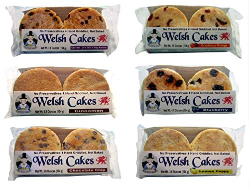 Welsh Baker Welsh Cakes - 6 Flavor Variety Box