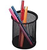 Sparco Steel Mesh Pencil Cup - Black