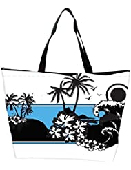 Snoogg Abstract Tropical Background Waterproof Bag Made Of High Strength Nylon