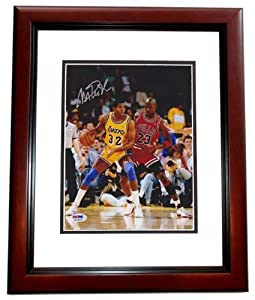 Magic Johnson Autographed Hand Signed Los Angeles Lakers 8x10 Michael Jordan Photo -... by Real+Deal+Memorabilia