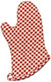 Appliances Packages Best Deals - Phoenix 10-Inch Gingham Oven Mitts, Red, Package of 4