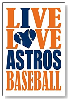 Live Love I Heart Astros Baseball lined journal - any occasion gift idea for Houston Astros fans from WriteDrawDesign.com