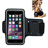 Workout Armband, Morris Water Resistand Key Holder Card Holder Sport Armband for Smartphones iPhone 8, 7, 7 Plus, 6, 6 Plus, 6S, 5, 5S, 4, 4S, Galaxy S3, S4 + Key Holder, Water Resistant
