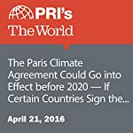 The Paris Climate Agreement Could Go into Effect before 2020 — If Certain Countries Sign the Revised Version | Peter Thompson