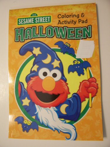 Sesame Street Coloring & Activity Pad ~ Halloween Edition (Elmo Witch Cover) - 1