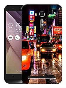 "Humor Gang Busy City Night Roads Printed Designer Mobile Back Cover For ""Asus Zenfone 2"" (3D, Matte, Premium Quality Snap On Case)"