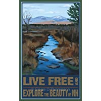 Live Free and Explore the Beauty of NH Poster