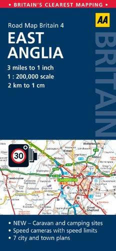 Road Map Britain: East Anglia (Aa Road Map Britain)