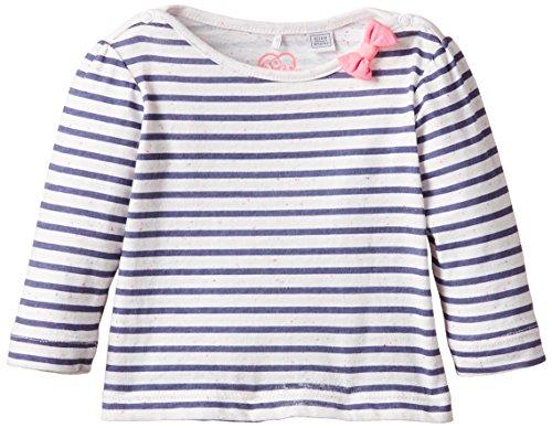 Chicco - TEE-SHIRT ML, Maglia a maniche lunghe da bimba, multicolore (bleu et blanc), 18 mesi (Taglia produttore: 18 mesi)