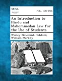 img - for An Introduction to Hindu and Mahommedan Law for the Use of Students book / textbook / text book
