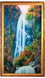 Moving Waterfall Lighted Picture With Nature Sounds