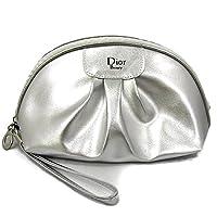 Christian Dior ディオール クリスチャンディオール コスメポーチ 化粧ポーチ 小物入れ メタリック シルバー 並行輸入品 AMI072