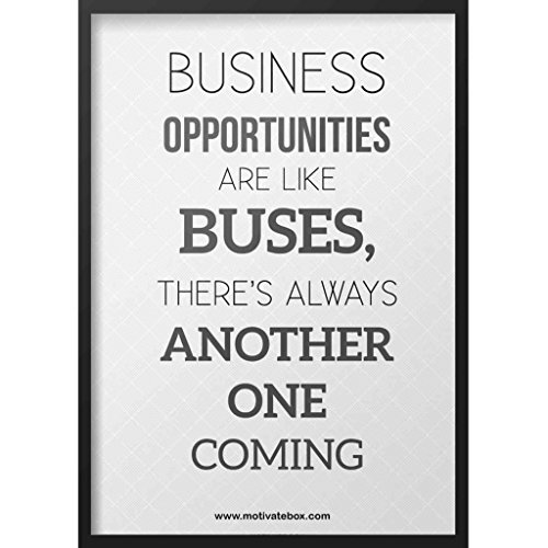 MOTIVATE BOX Bussiness Opportunities are like buses.... Rectangular Frame 12x18.