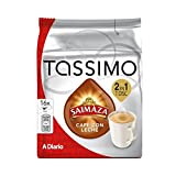 Tassimo Saimaza Cafe Con Leche 2 in 1 T Disc (Coffee/Milk) 195ml 16 T Discs Pack of 2 - (32 Servings)