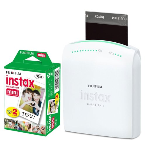 Lowest Price! Fujifilm Instax Share Smartphone Portable Printer SP-1 With 20 Sheets Pack Fujifilm In...