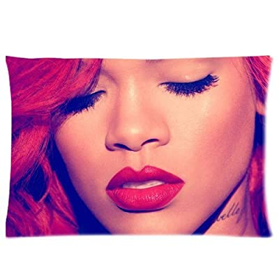 1 X Famous American Music Star Singer Model Sexy Red Hair Robyn Rihanna Fenty Fashion Hipster Personalized Soft Custom Rectangle Pillowcase Pillow Case Cover 20X30 (One Side) For The Fans Design