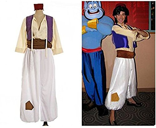 Maconaz Adult Aladdin Prince Costume Halloween Party Costume 2-Male-Large (Aladdin Mens Costume)