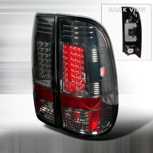 97 98 99 00 01 02 03 Ford F150, 99-05 F250 Heavy Duty, F350 Super Duty / 97-04 F-250 Light Duty Styleside Led Tail Lights - Smoke (Pair)