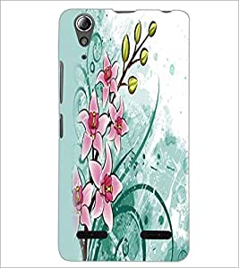 PrintDhaba Flowers D-2353 Back Case Cover for LENOVO A6000 PLUS (Multi-Coloured)