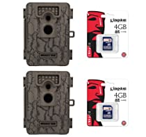 (2) MOULTRIE Game Spy A-5 Low Glow Infrared 5 MP Digital Game Cameras + SD Cards
