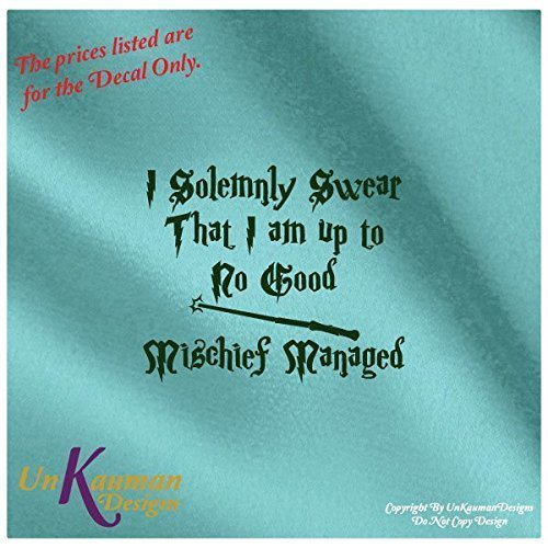DIY...Iron On Heat Transfer Vinyl Decal Harry Potter Inspired I Solemnly Swear That I am up to No Good Mischief Managed #SSMM (Harry Potter Iron On compare prices)