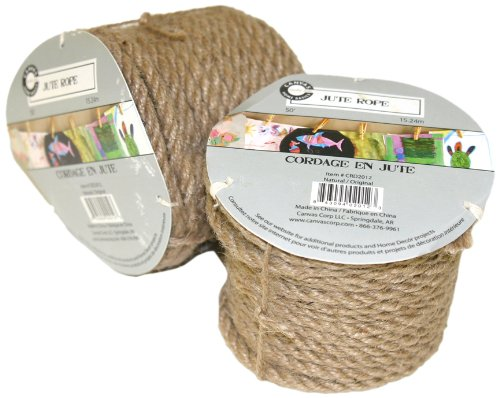 Purchase Canvas Corp 50-Feet Jute Rope Natural Roll