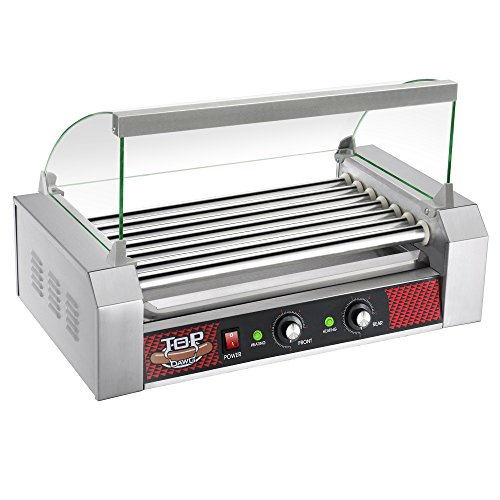 Great Northern Top Dawg Commercial 7 Roller Stainless Steel Hot Dog Machine With Cover (Hot Dog Stainless Tray compare prices)