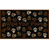 Apache Mills 60-925-0894 Wipe Your Paws Doormat, Brown, 18-Inch by 30-Inch