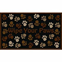 Apache Mills 60-925-0894 Wipe Your Paws Doormat Brown 18-Inch by 30-Inch