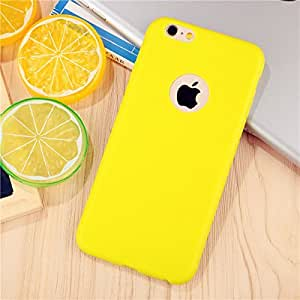Sunny Fashion * Candy Colors * Soft TPU Silicone Back Cover Case for New Apple iPhone 7 - Yellow