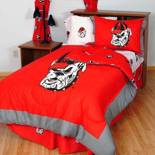 Georgia Bulldogs Reversible Comforter Set - Twin (Bulldog Bedding compare prices)